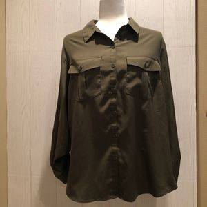 NY Collection Button Down Blouse